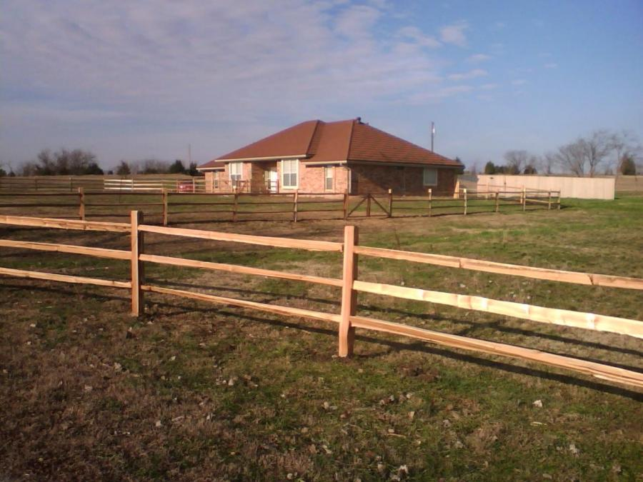Cedar split rail fence photos