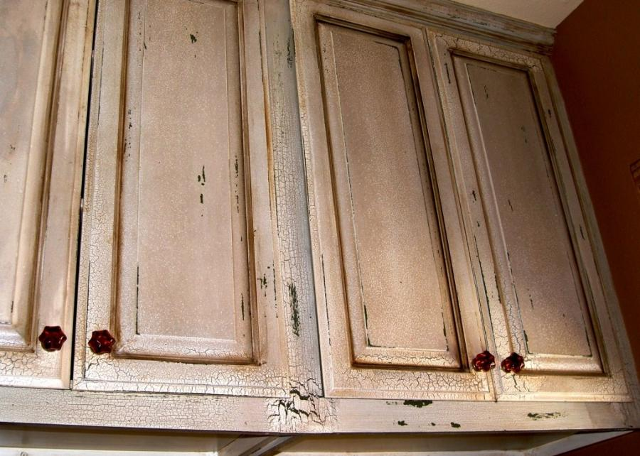 ... Heavily distressed cabinet
