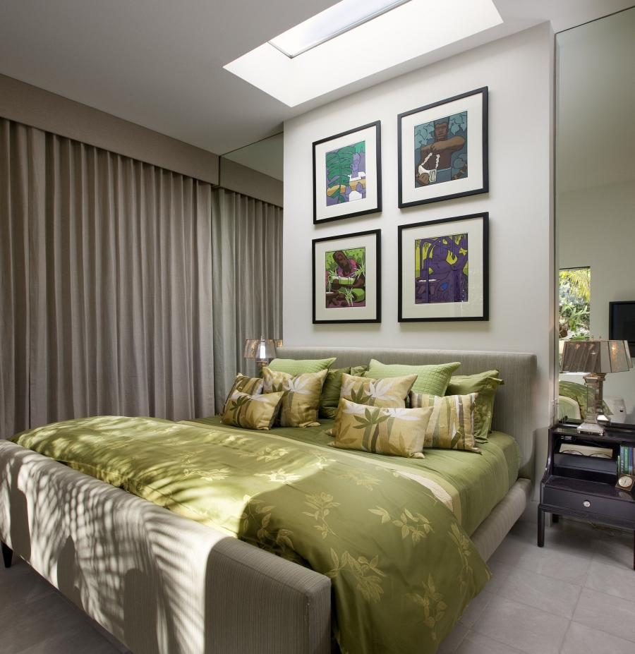 ... Contemporary Small Bedrooms with Gray Ceiling and Gray Queen...