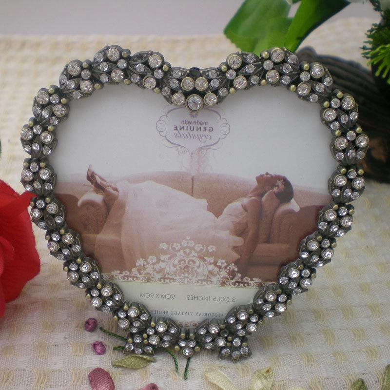 Glass Heart Photo Frames