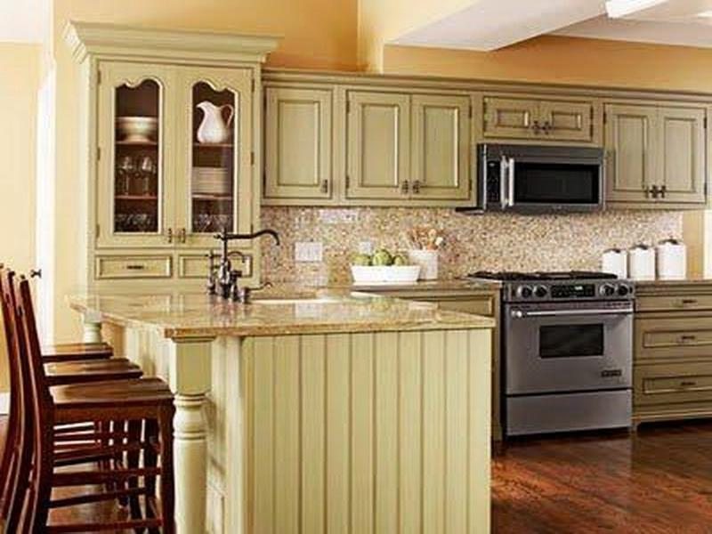 Green And Yellow Kitchen Photos