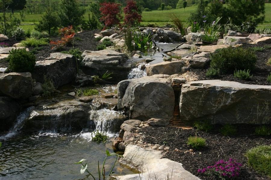 Photos Garden Pond Waterfalls