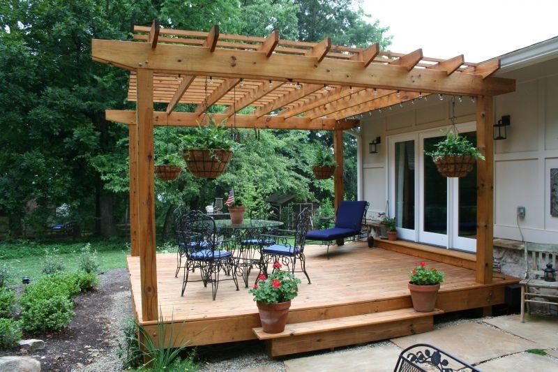 Decks With Pergolas Photo Gallery