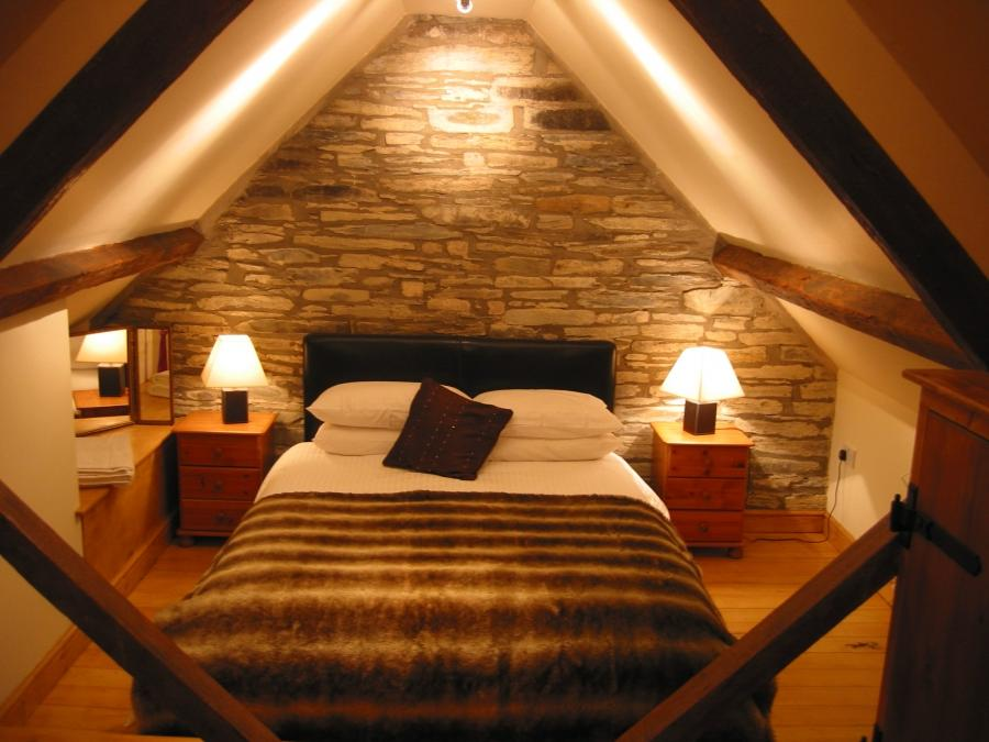 Kids Room : Adorable Rustic Attic Bedroom With Large White...