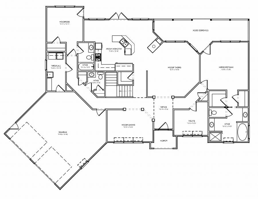 House plan photo for Empty nester floor plans