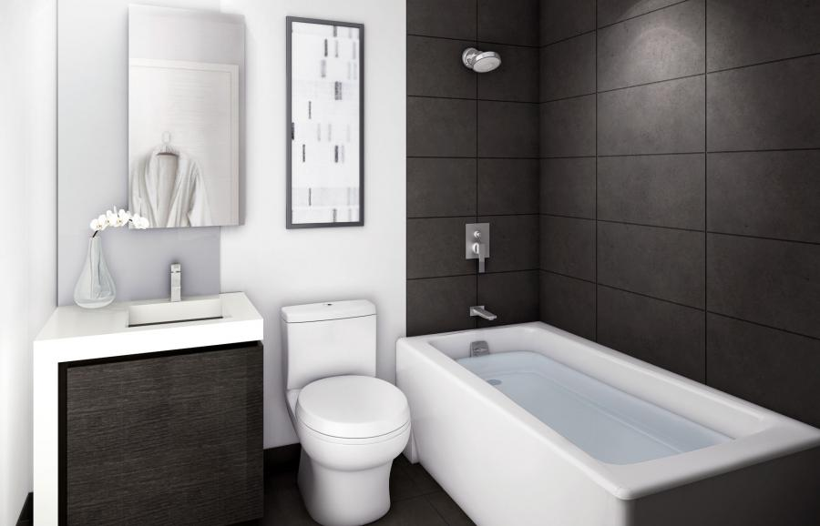 ... Black And White Bathroom Decorating Ideas With Minimalist...