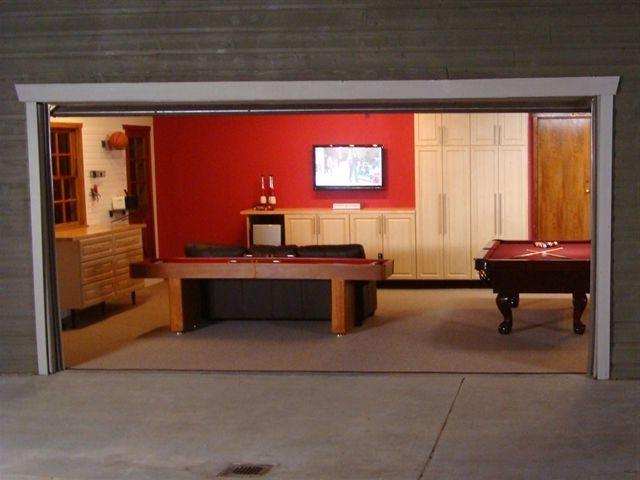 Game room garage photos for Garage game room