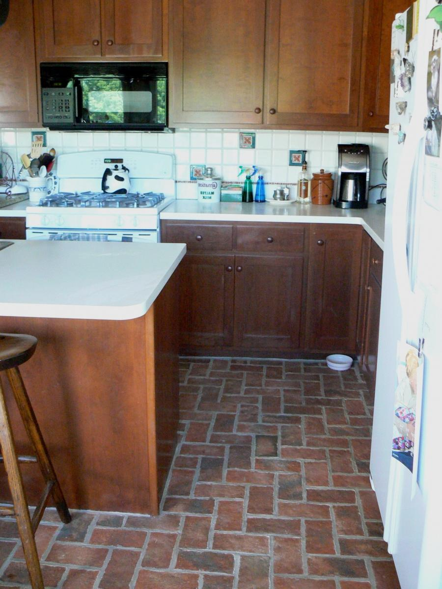 Harvest moon kitchen thin brick floor Harvest moon kitchen thin...