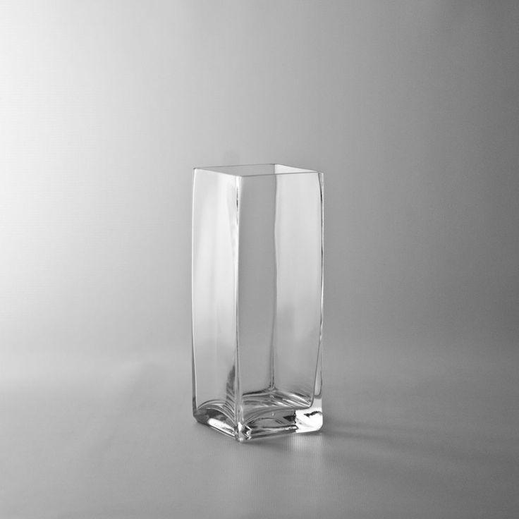 Square Glass Photo Vase Wholesale