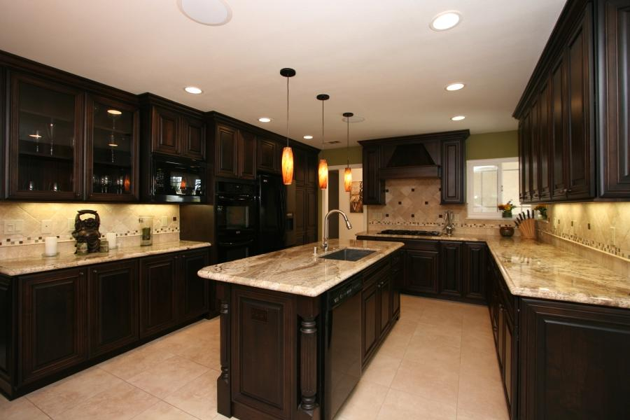 Kitchen Custom Black Kitchen Idea Cabinets Cwtaymw Picture Custom...