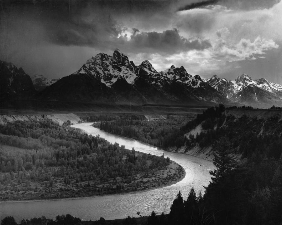 Department interior ansel adams photos for Ansel adams mural