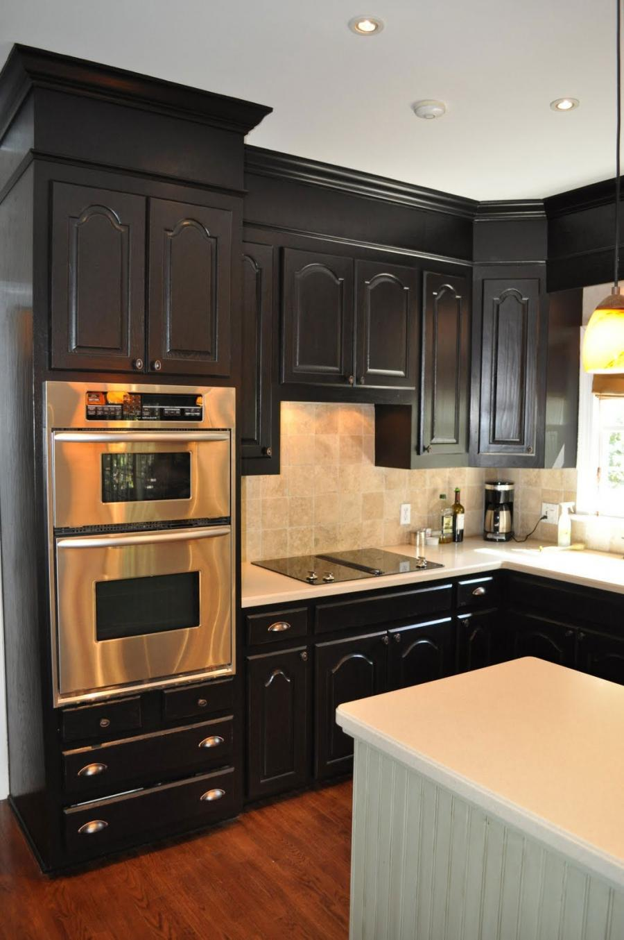 Black Kitchen Cabinets For Fancy Kitchen Design : Classy Black...