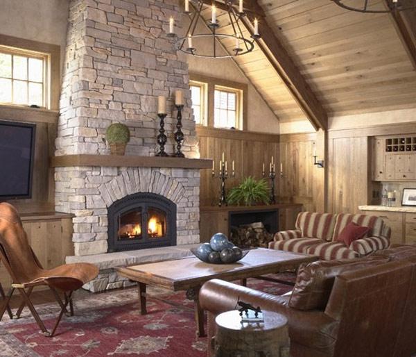 Fieldstone Fireplace Photos