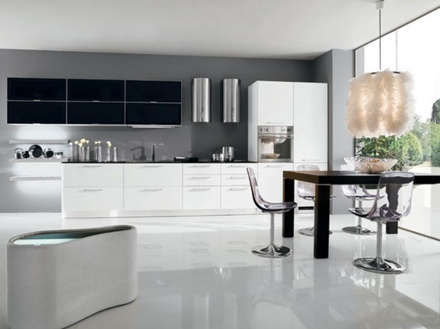 Black And White Kitchen Designs Photos