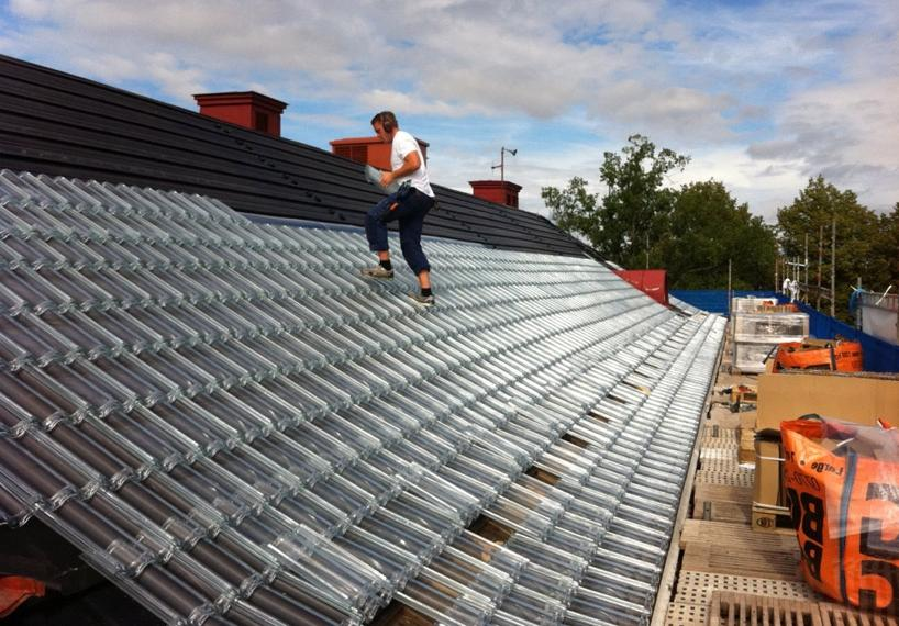 Photo Electric Roof Shingles