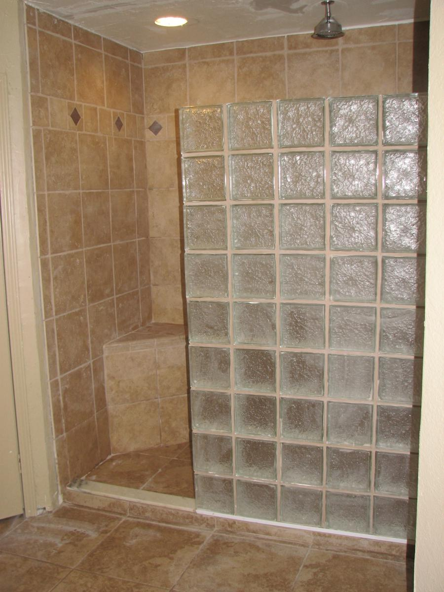 9x9 Room Design: Glass Block Shower Designs Photos