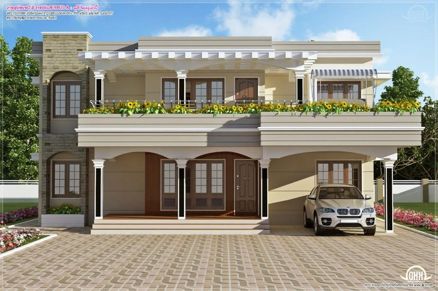 personable sqfeet kerala flat roof home design: flat roof house...