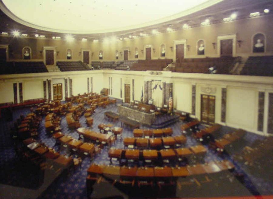 US Senate Floor Empty