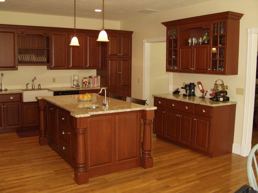 Cinnamon maple kitchen cabinet photos for Bathroom vanities lakewood nj