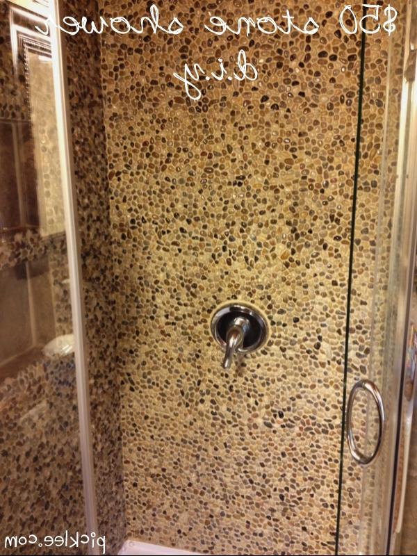 The Pebble Stone Shower DIY
