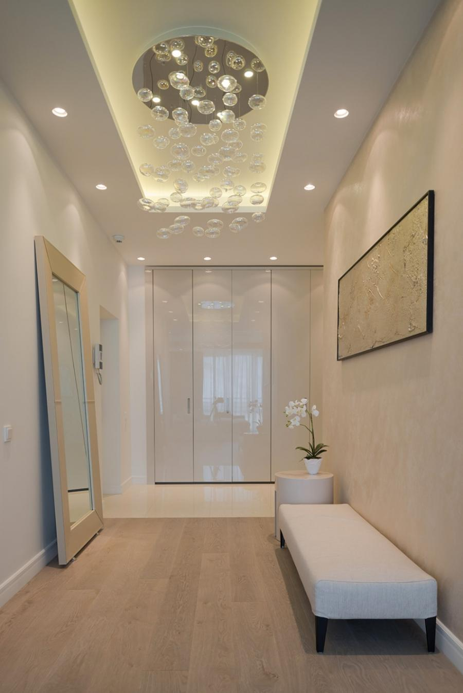 Interior, Modern Hallway Design With White Interior Color...