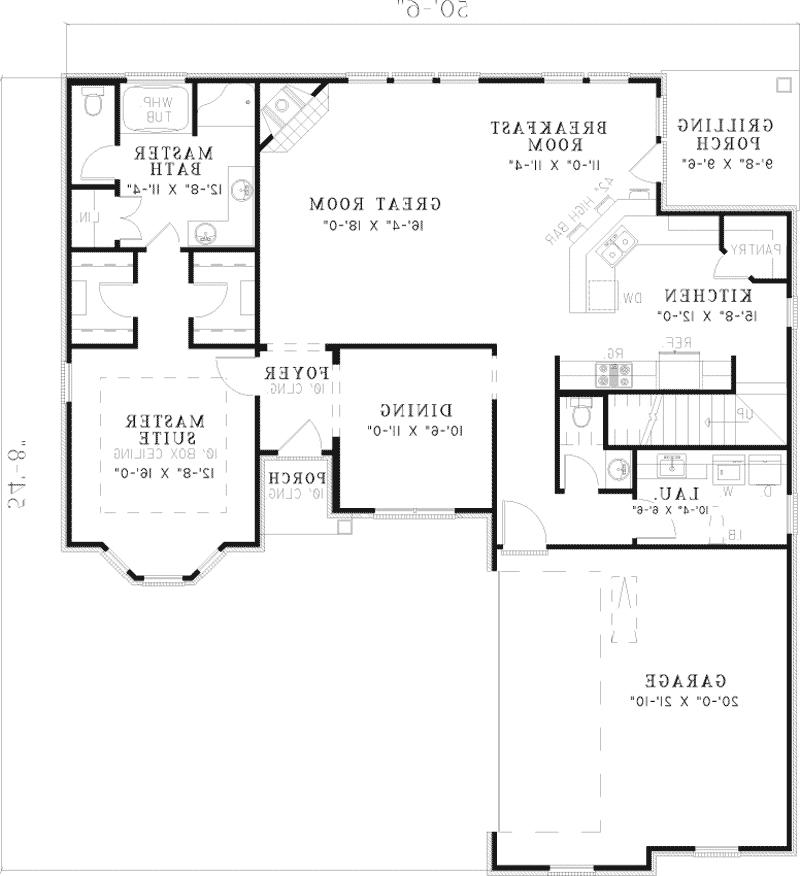 Traditional House Plan First Floor - 055D-0475 | House Plans and...