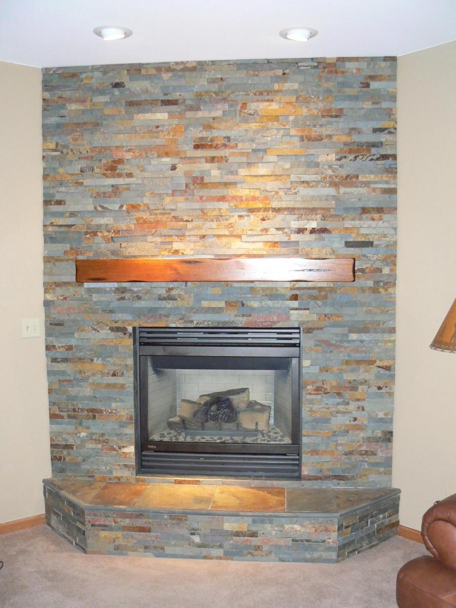 Gallery of Cool Stack Stone Fireplace