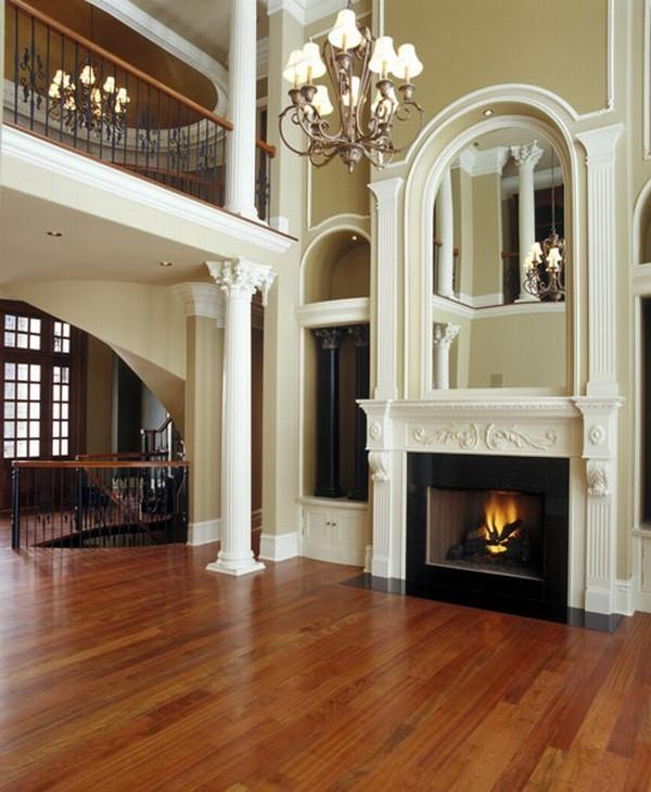 Luxury Home Builders In Ohio: Great Room Photos Fireplace