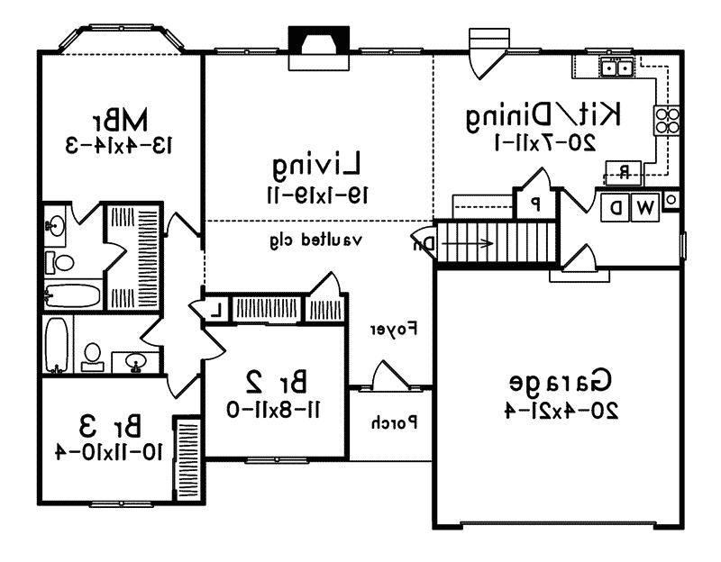 Traditional House Plan First Floor - 058D-0016 | House Plans and...