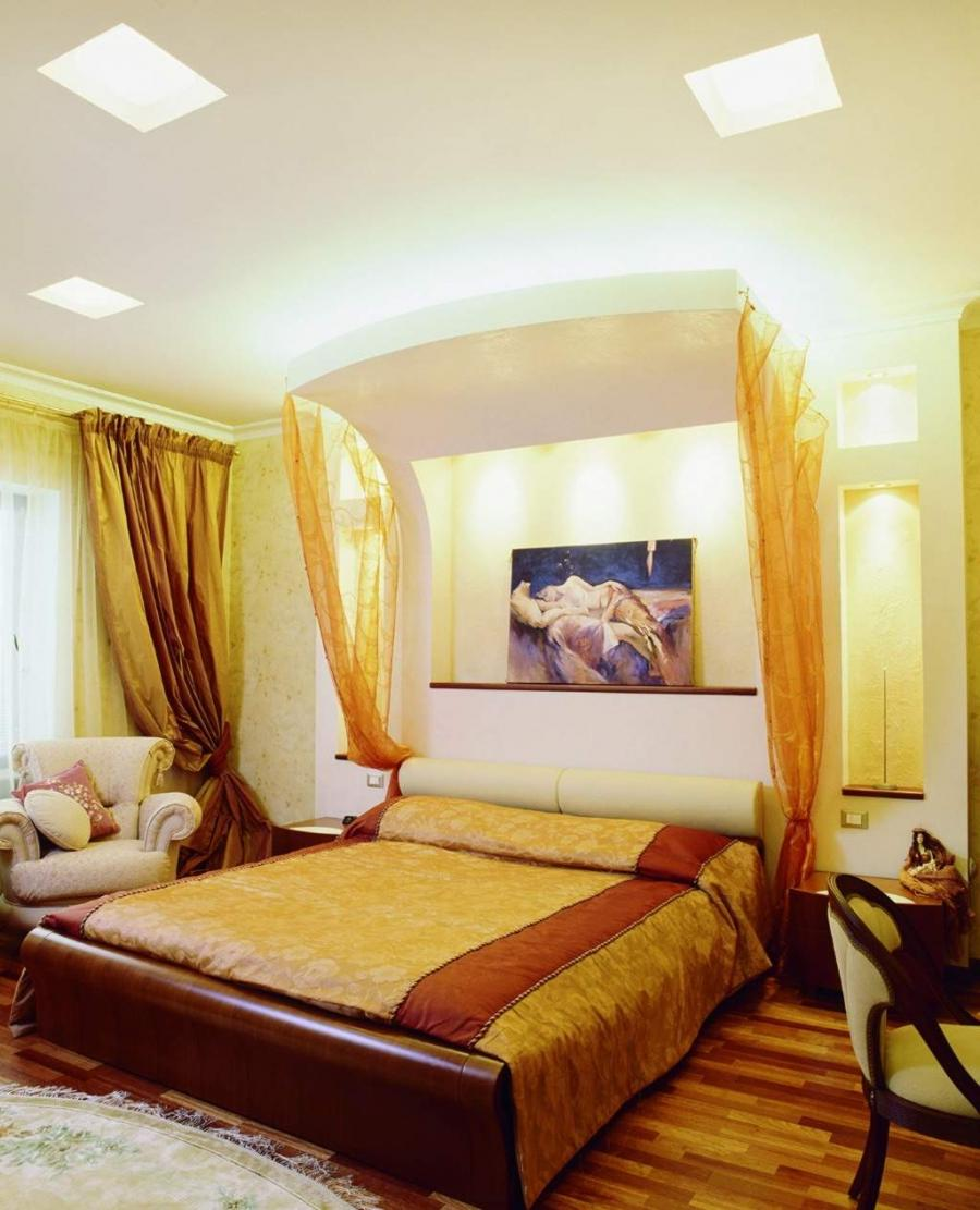 Comfortable Modern Yellow Bedroom Interior Decor With Sweet Look