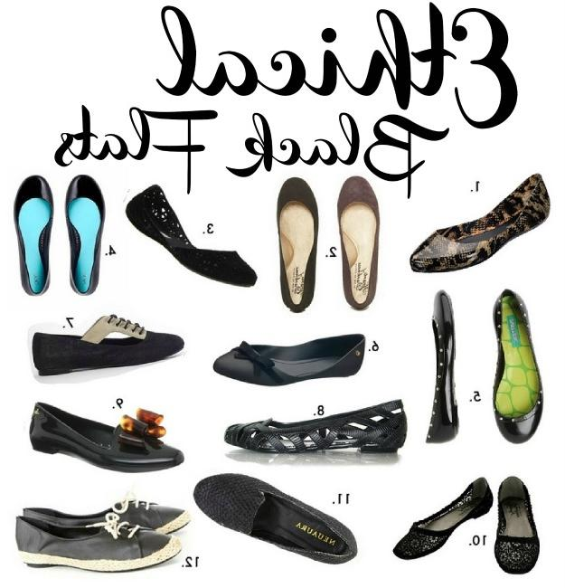ethical black flats