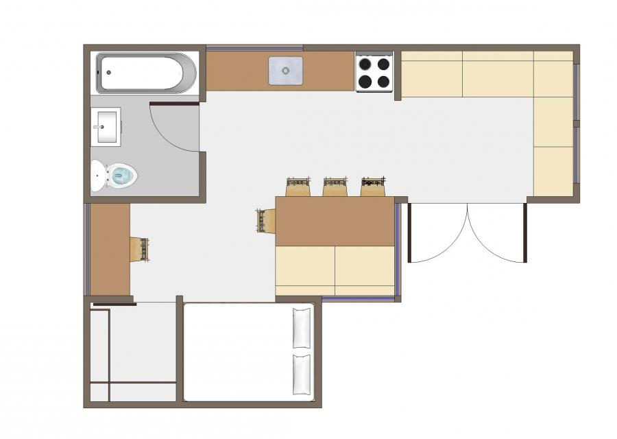 Small floor plan photos for 350 sq ft house