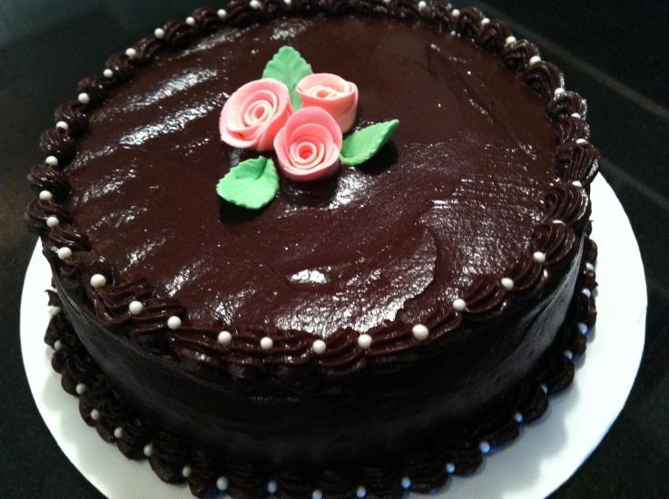 Chocolate cake decoration photos