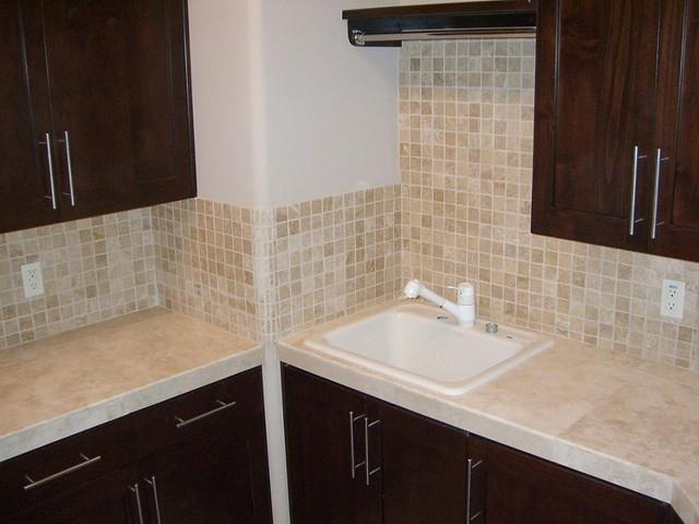 Kitchen tile countertop photos for Jerusalem stone countertops