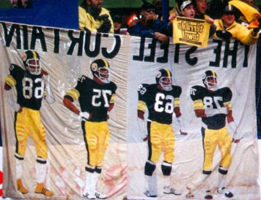 The 1970u Pittsburgh steelers and their legendary steel curtain...