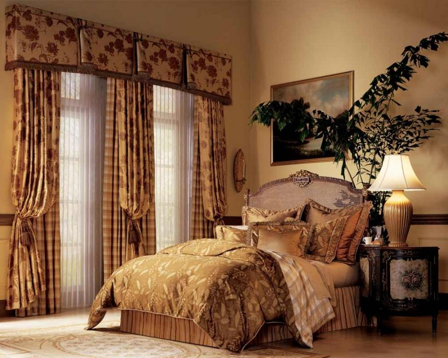 Master Bedroom with Curtains and Drapes