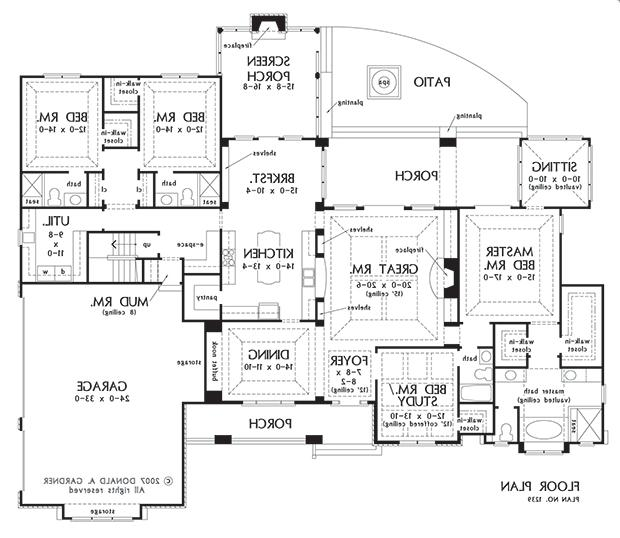 Donald a gardner house plans with photos for Gardner house plans with photos