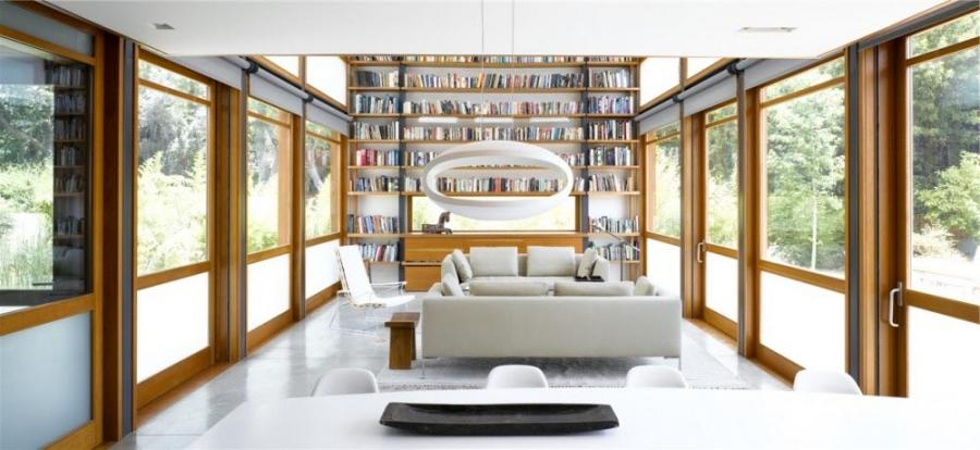 Interior design library at Minimalist and Simple House Design