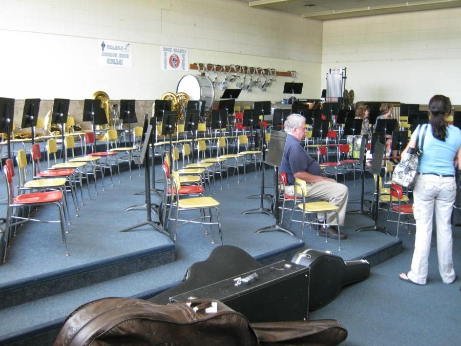 GMS band room in the old middle school.