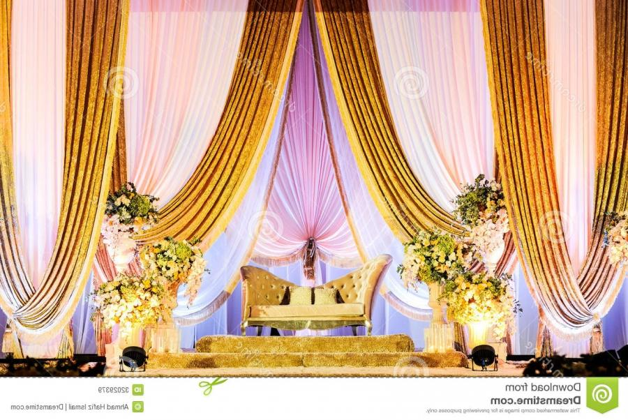 A beautifully decorated Wedding Altar on a stage at a wedding...