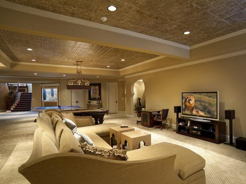 Remodel of Suspended Basement Ceiling Idea