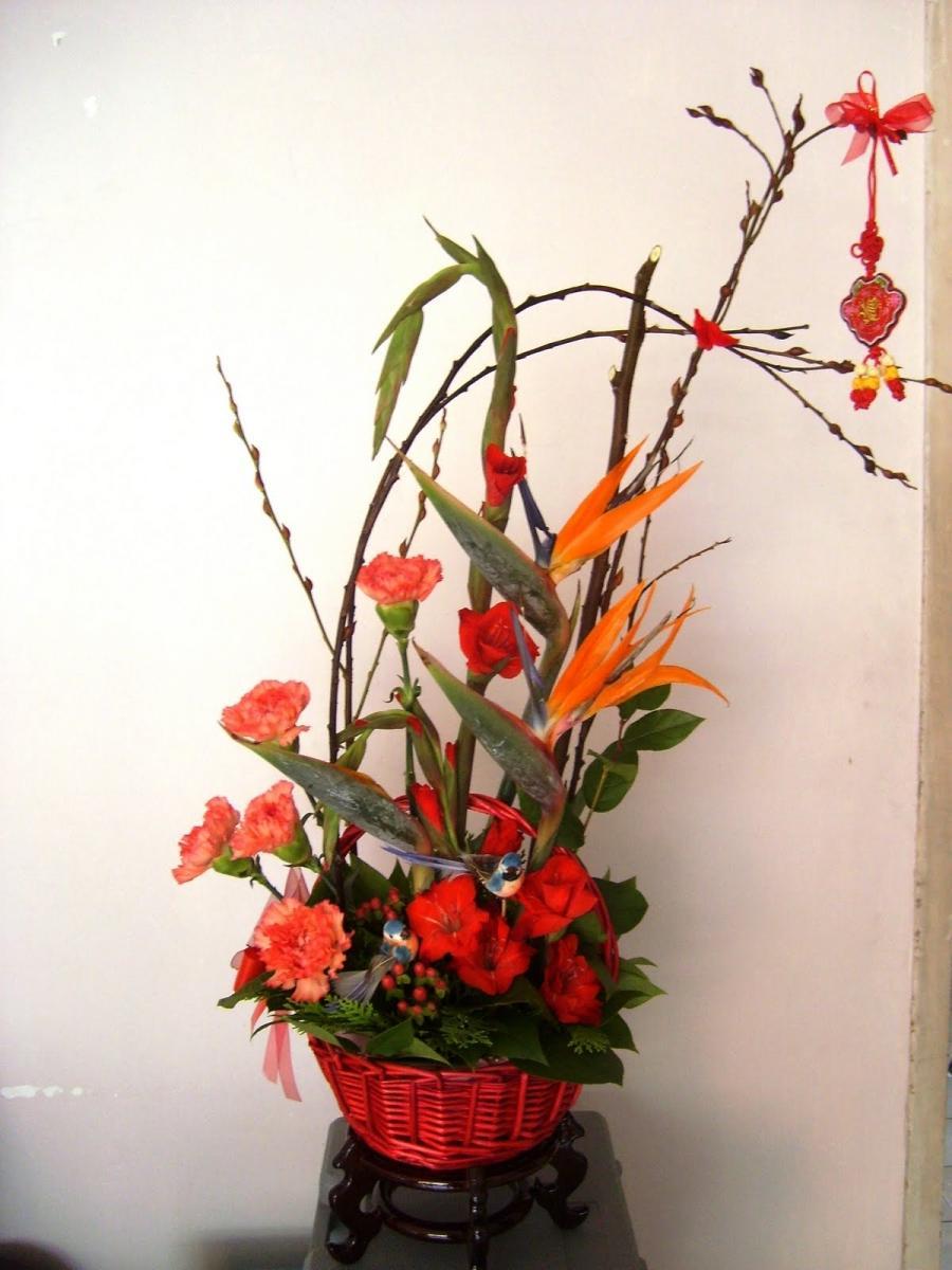 chinese flower arrangement - photo #44