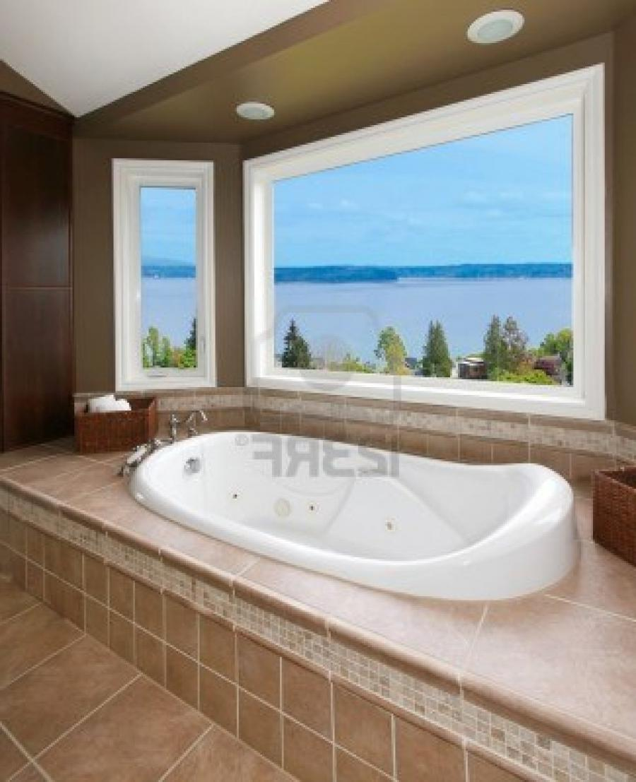 View bathroom photos Beige brown bathroom design
