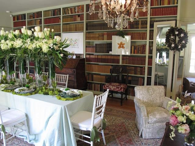 I have always loved the idea of a turning a library into a dining...
