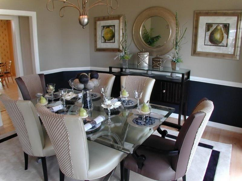 Formal dining room decorating photos for Elegant dining room decorating ideas