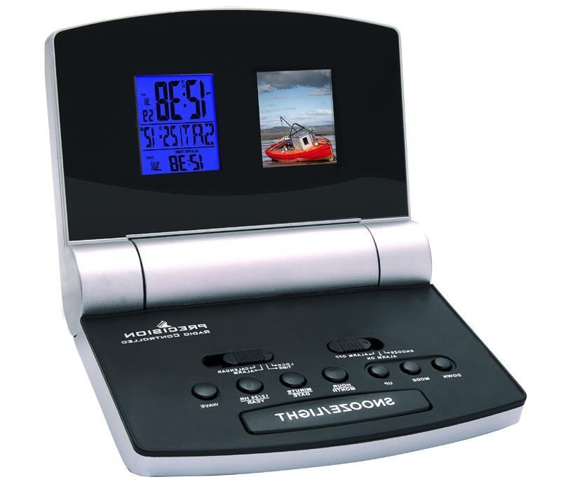 digital alarm clock with photo frame. Black Bedroom Furniture Sets. Home Design Ideas