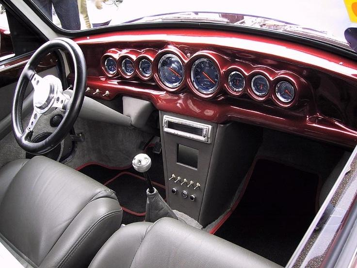 Classic Mini, Interior, Custom Red.