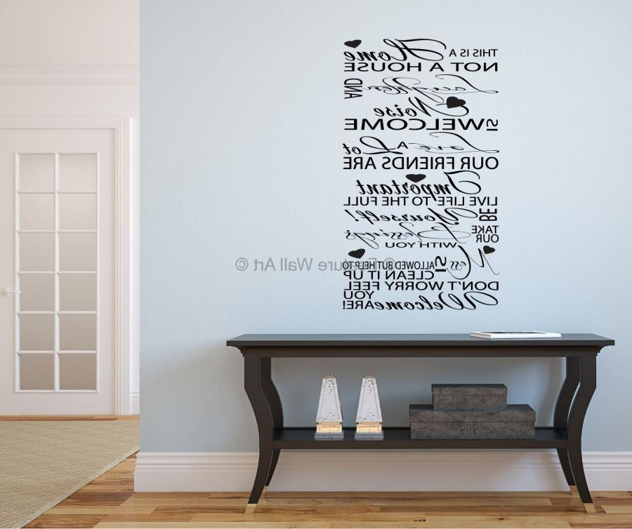 Welcome - Typography Hallway/Lounge Vinyl Art Wall Stickers...