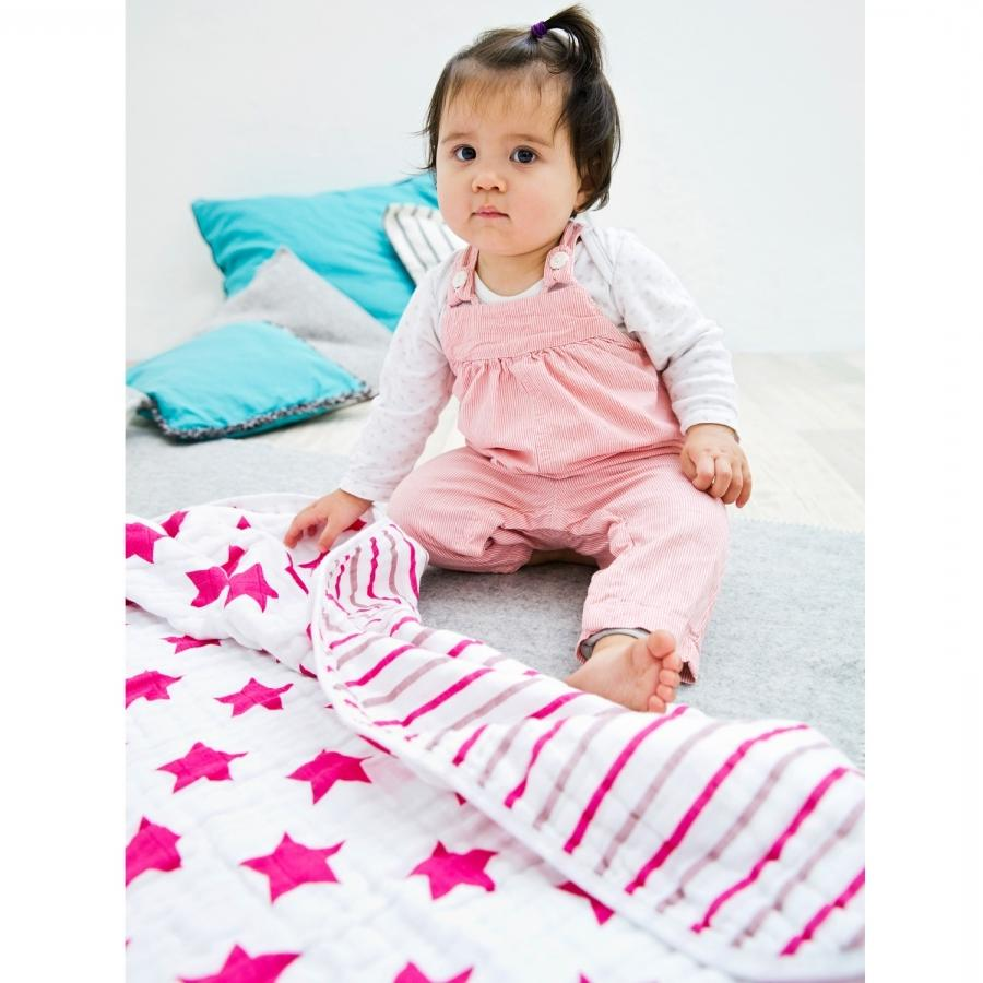 LASSIG Cozy Blanket XL Stars  Stripes Girls 120 x 120cm ?. LASSIG...