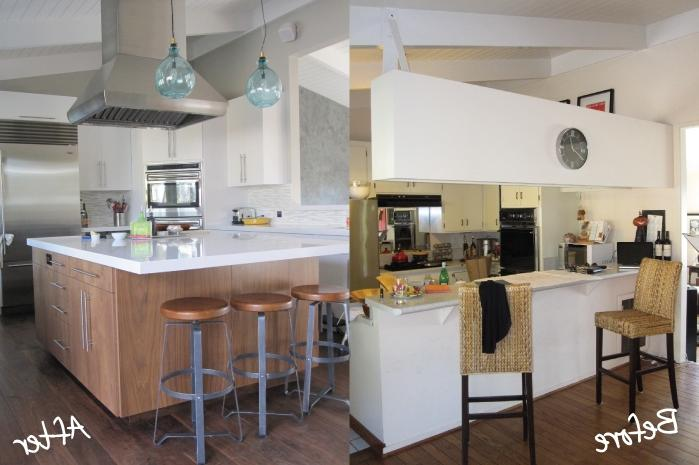 Kitchen design photos before and after for Cheap kitchen remodel ideas before after